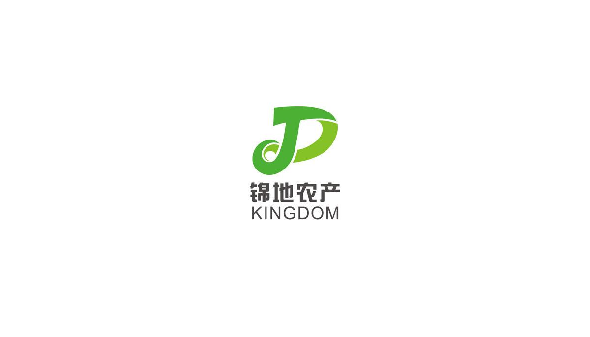 锦地农产LOGO设计_成都农业科技公司LOGO设计_成都农业品牌VI设计公司