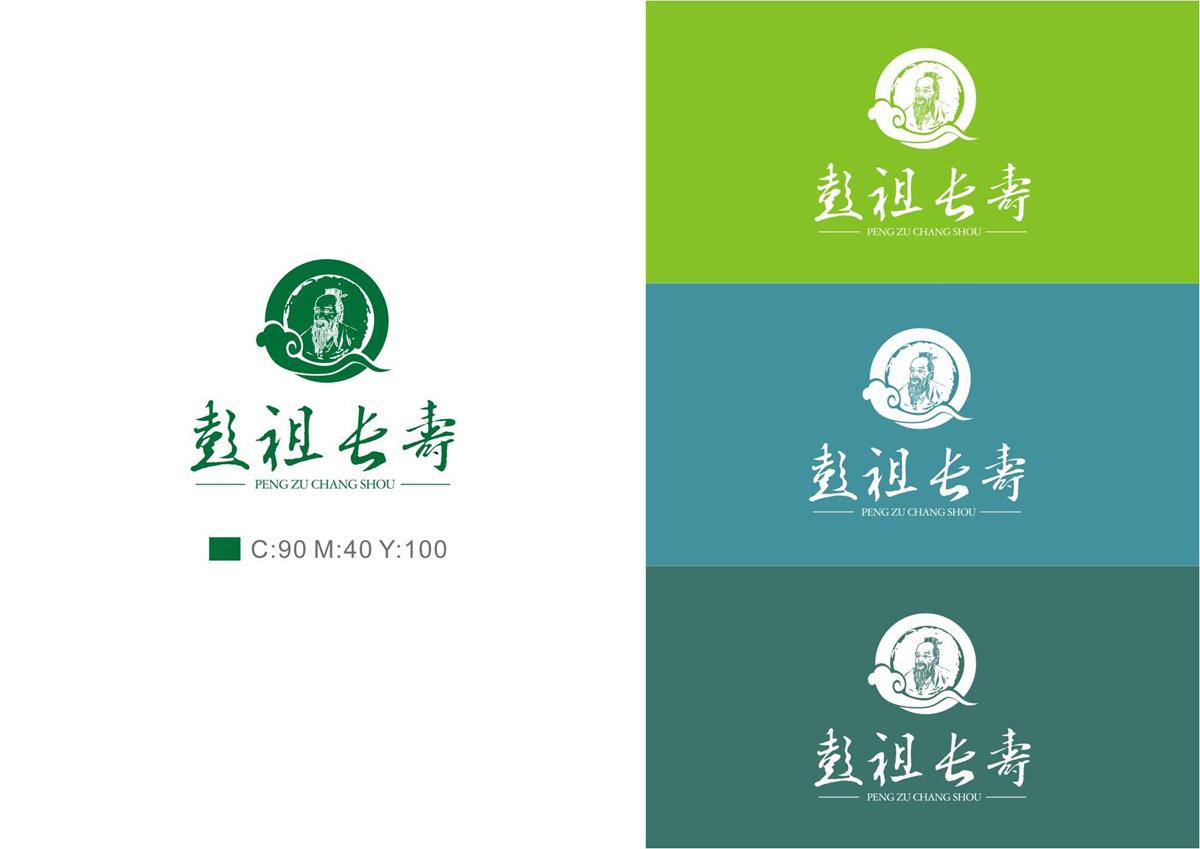 彭祖长寿LOGO设计_彭山LOGO设计公司_成都农业logo设计