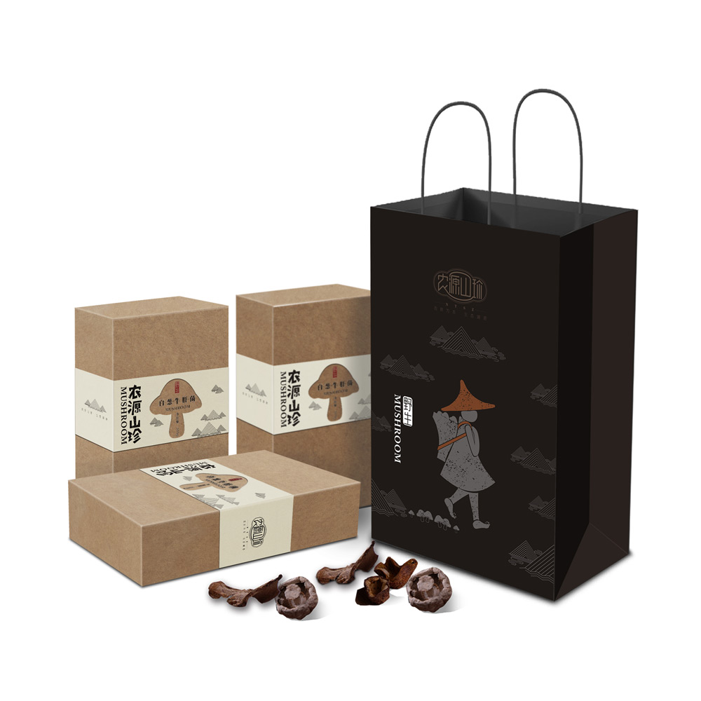 大山山珍菌类包装设计_成都山珍包装设计_成都菌类包装设计