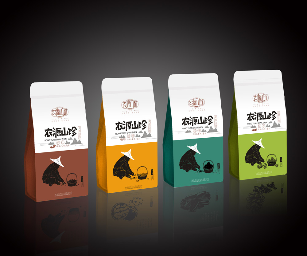 大山山珍坚果包装设计图片