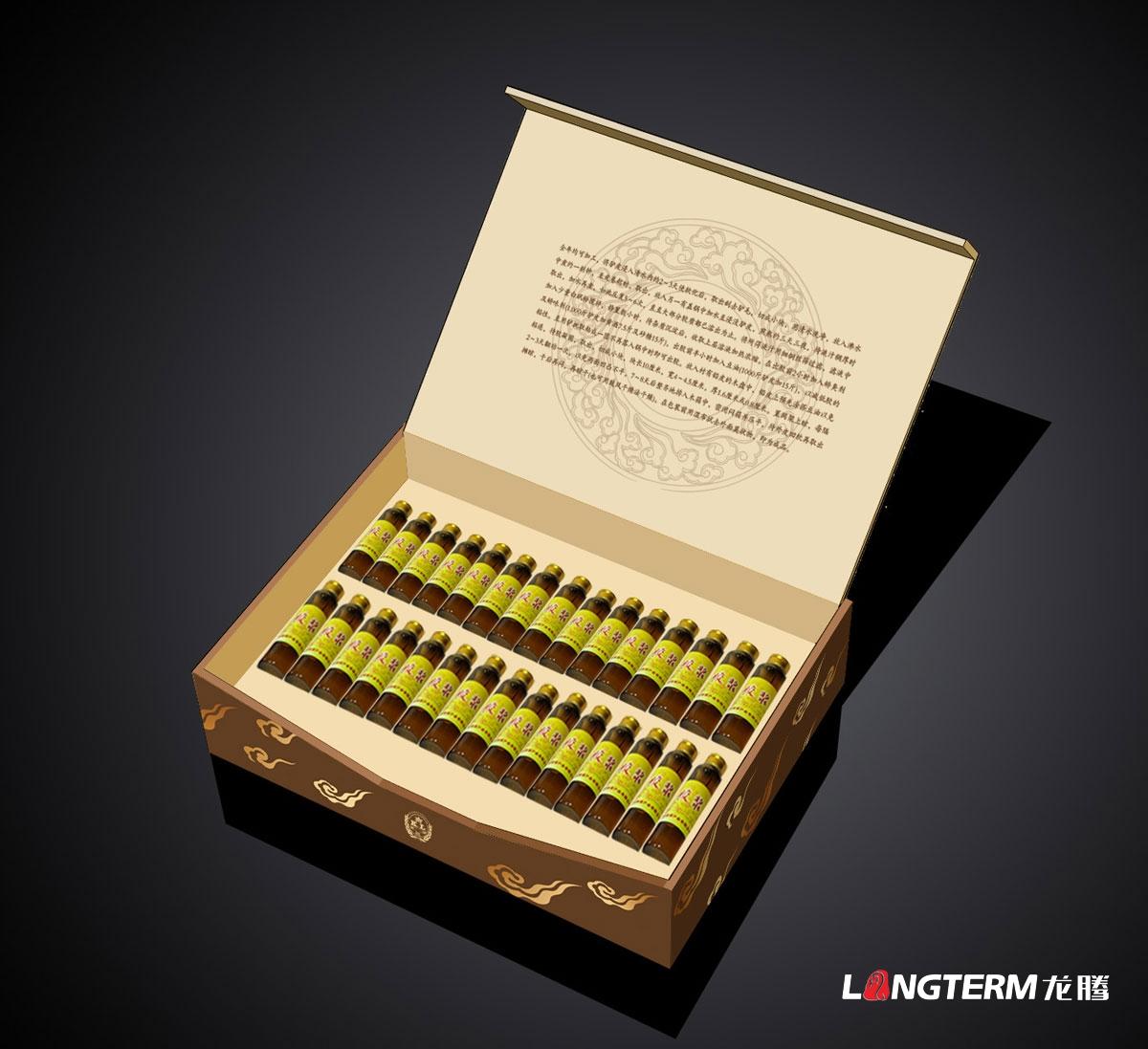 阿胶杞桂液礼盒包装设计|阿胶浆保健品包装盒设计生产印刷制作