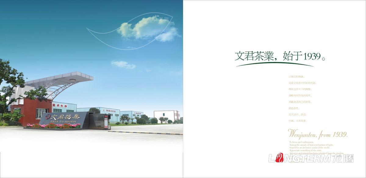 文君茶宣传画册设计|成都文君集团茶叶公司品牌形象宣传册设计公司