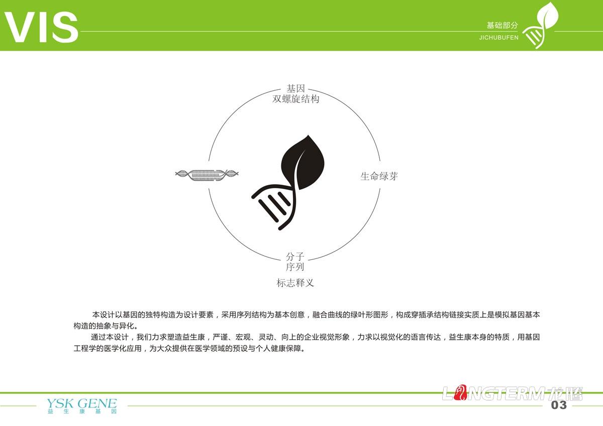 四川益生康基因品牌LOGO及VI形象设计|成都基因工程公司品牌视觉形象设计公司