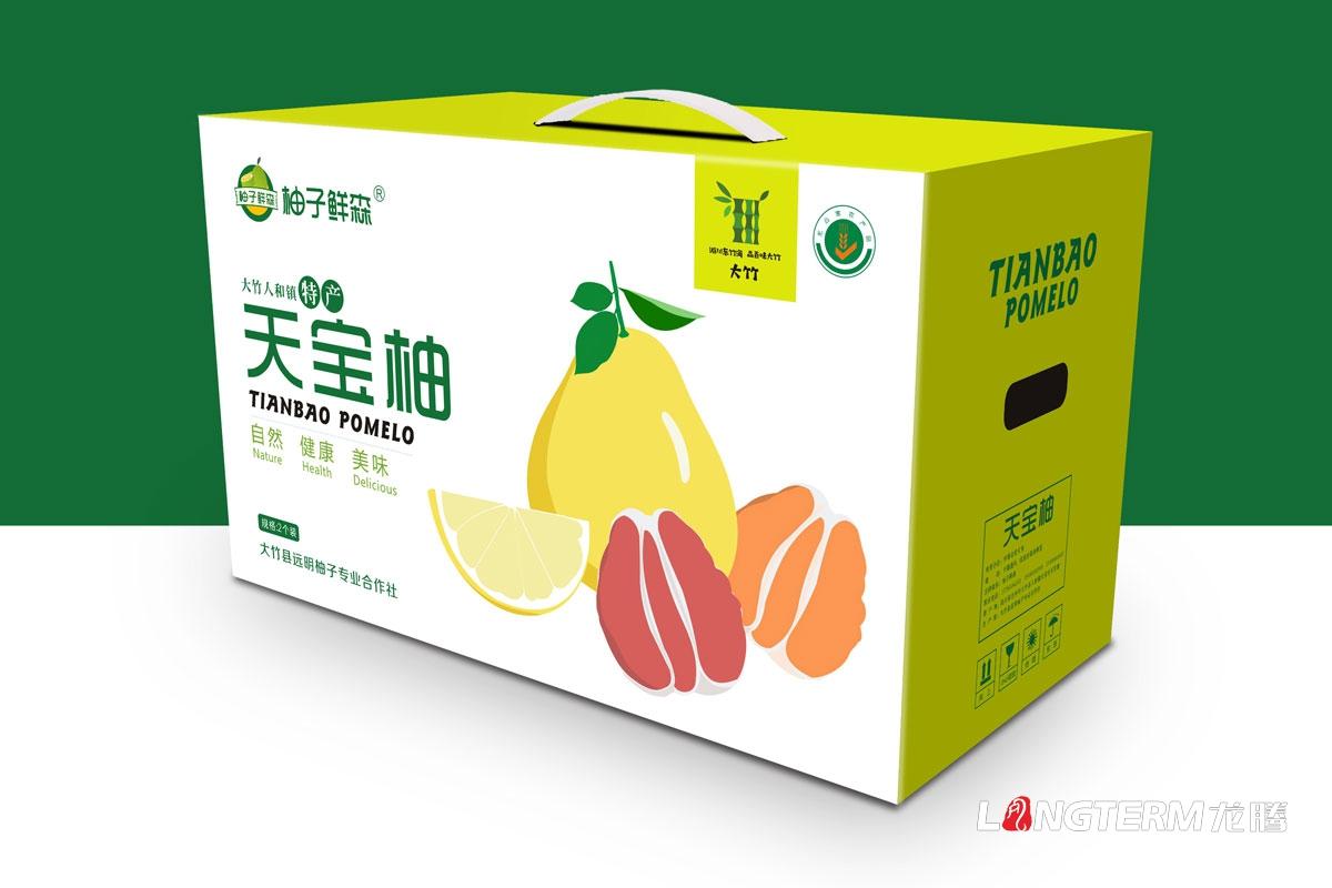 柚子水果包装盒设计_大竹县人和镇《天宝柚》彩印纸箱包装设计