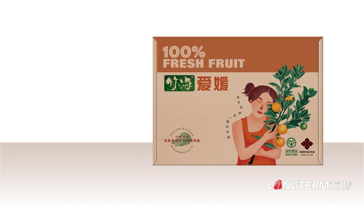 竹海爱媛礼盒包装设计_眉山市水果精品精品礼盒包装设计公司