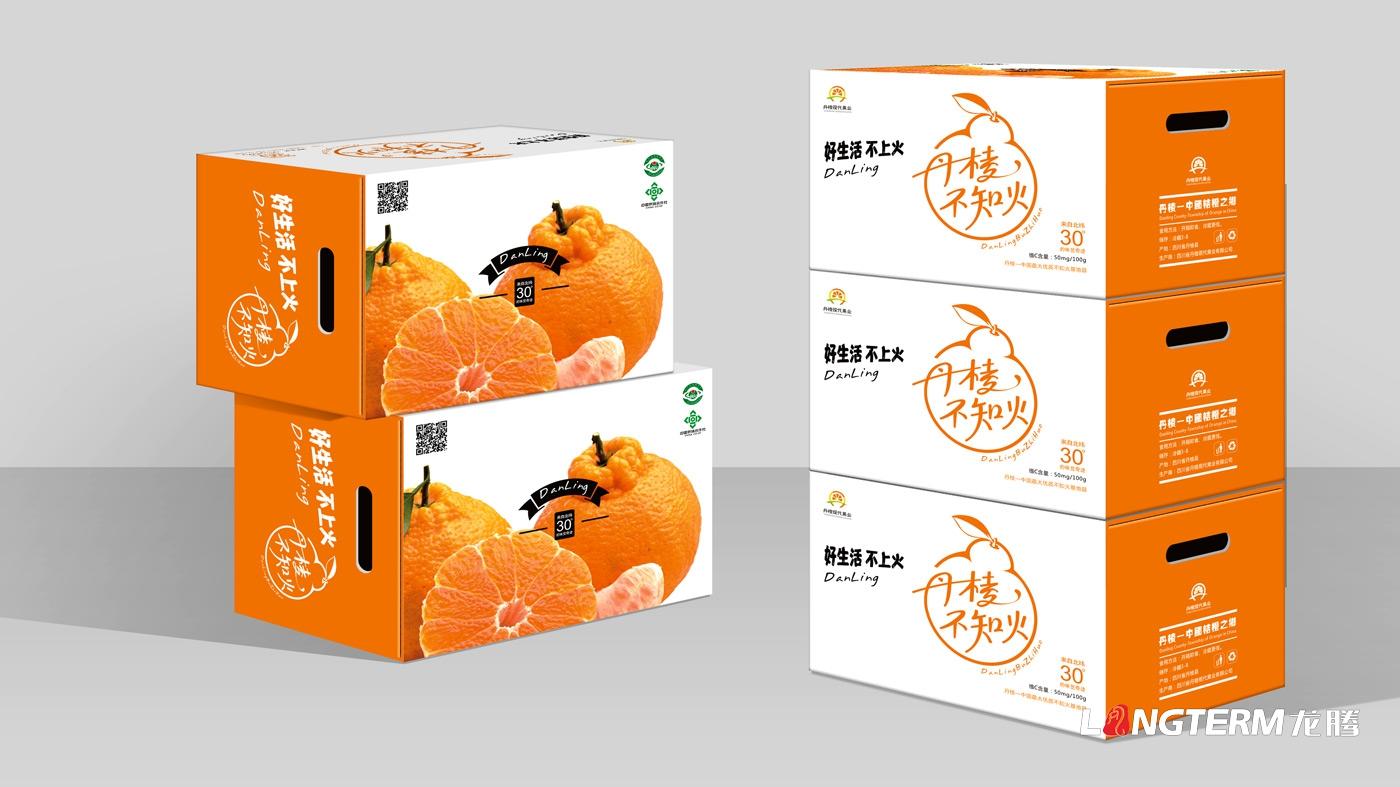 不知火桔橙水果包装形象设计_丹棱不知火耙耙柑眉山市桔橙水果品牌形象标志LOGO设计