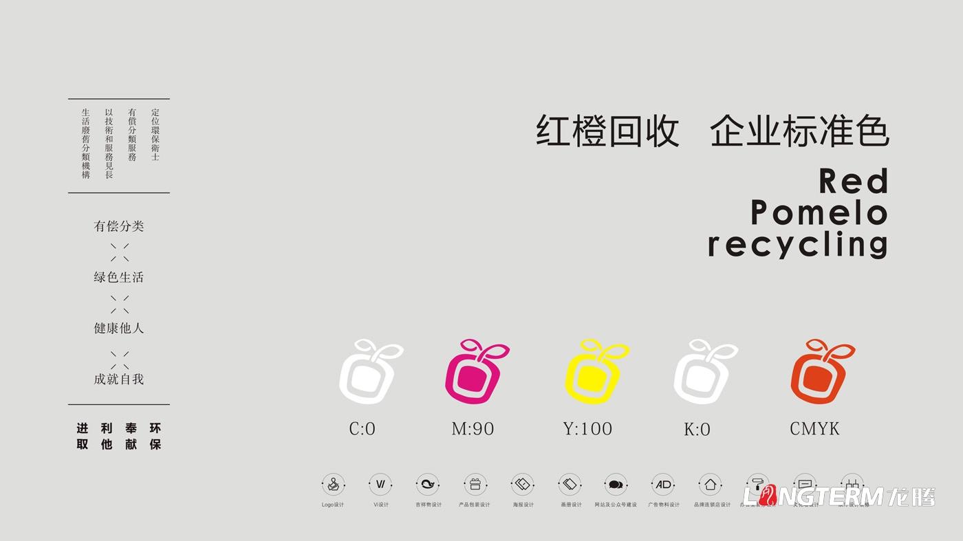 红柚回收LOGO标志设计_生物科技公司品牌视觉形象设计