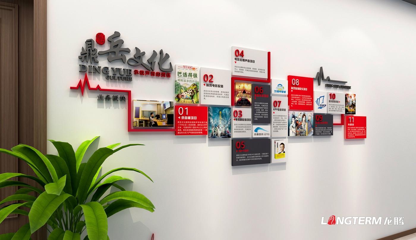 鼎岳配音文化墙设计_四川鼎岳文化传播有限公司文化墙设计