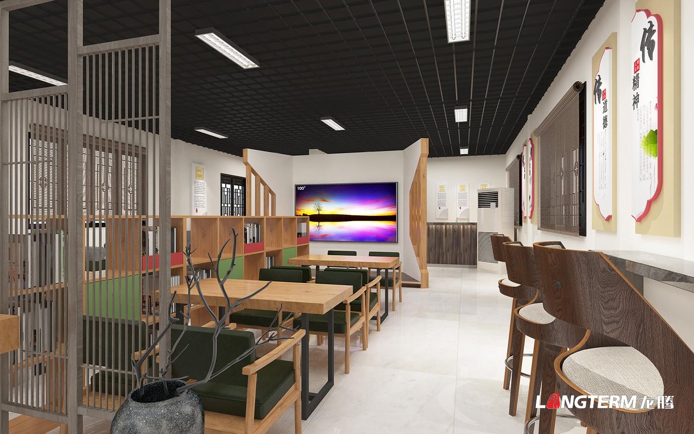丹棱县新时代文明实践中心装饰设计效果图_ 新时代文明实践中心阵地展厅建设方案