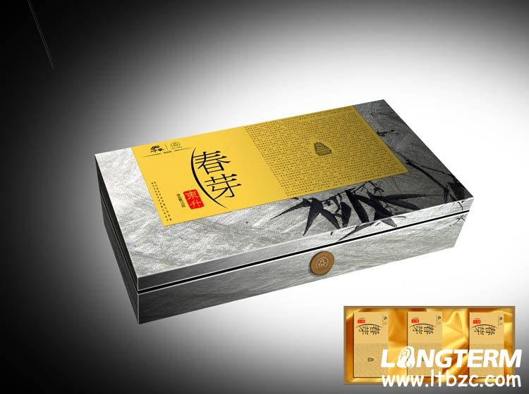 东升春芽茶叶商务装包装设计