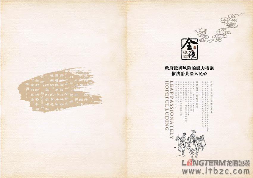 泸定县宣传画册设计