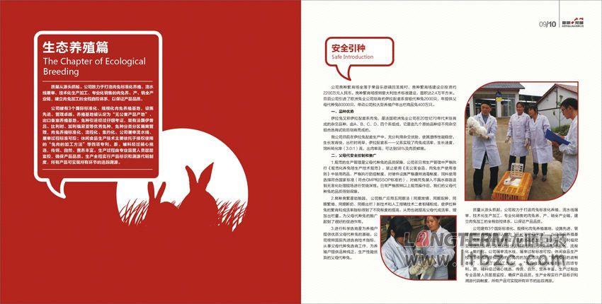 自贡市品山兔业有限公司宣传画册设计