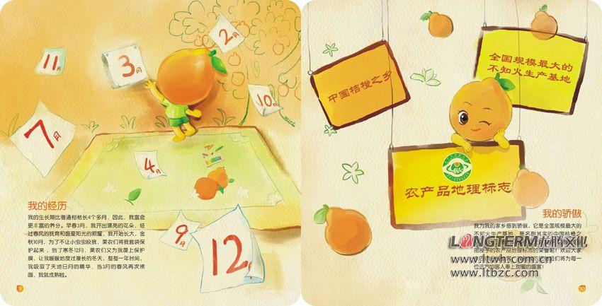 丹棱不知火桔橙手绘画册设计